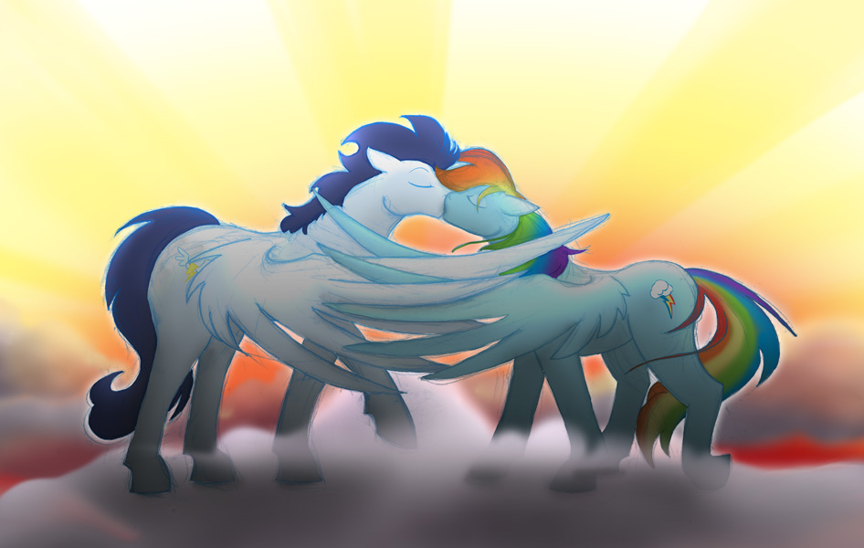 Wonderbolt and Rainboom by CrownePrince