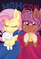 2017 Charity Poster - Fluttershy and Cozy (SALE) by CrownePrince