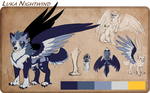 Luka Nightwind - Character Reference by CrownePrince