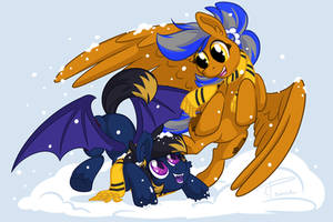 Hufflepuff Snow Day
