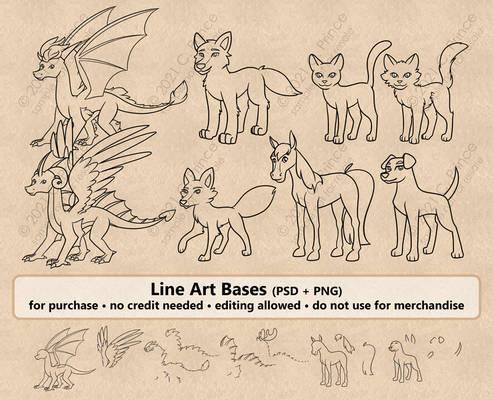 Animal Line Art Bases