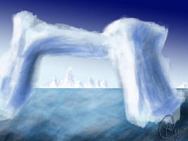 Digital Painting Concept Ice Scene 1 by OLDDOGG