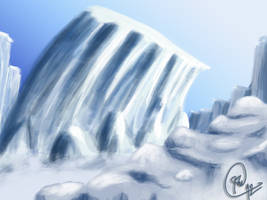 Digital Painting Concept Ice Scene 3 by OLDDOGG