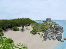 Tulum Beach by OLDDOGG