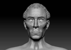 Zbrush Sculpt - Peter Cushing by OLDDOGG