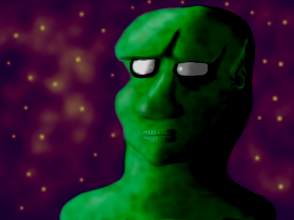 Alien Looking to the Horizon by DancingDemonArt