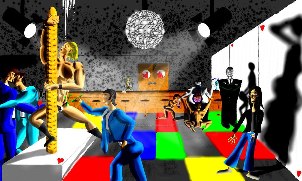 Cards Night Club by DancingDemonArt