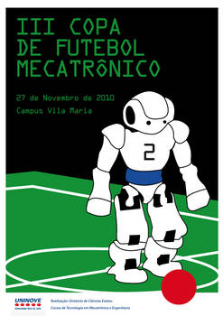 Cartaz Copa de Futebol Mecatronico