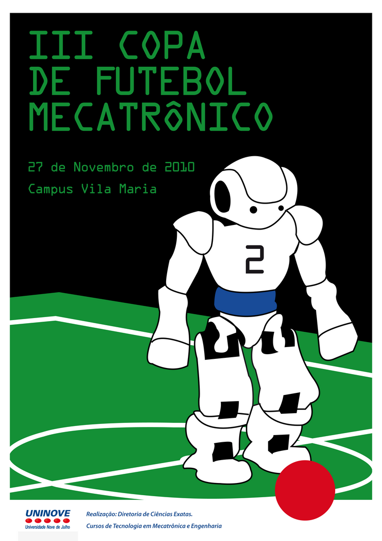Cartaz Copa de Futebol Mecatronico by ThePoph