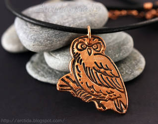 Owl necklace by Arctida