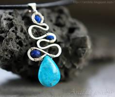 *Galene* Turquoise and Lapis lazuli necklace