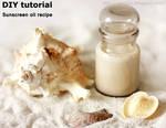 DIY tutorial Sunscreen oil recipe