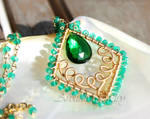 *Adeola* Emerald green gold necklace