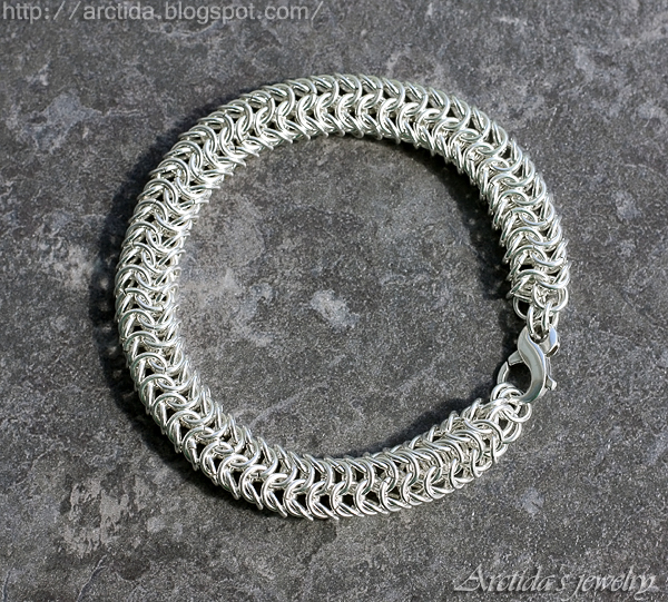 Chainmaille Roundmaille mens bracelet by Arctida