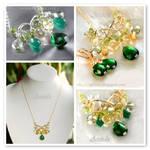 *Harmonia* Emerald green gemstone necklace