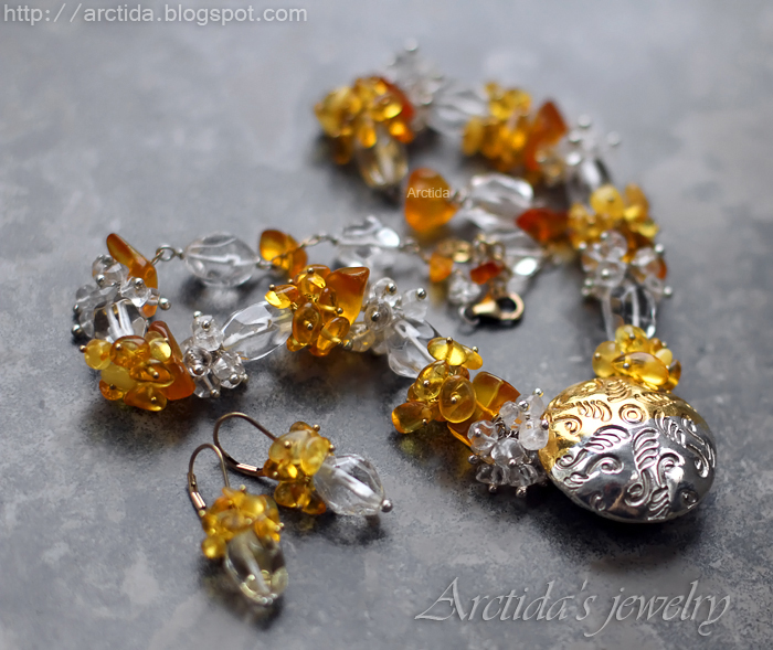 Ice and Fire - fine jewelry set by Arctida