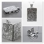 Antique Book locket pendant by Arctida