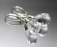 *Elsa* Rock Crystal Clear Quartz earrings