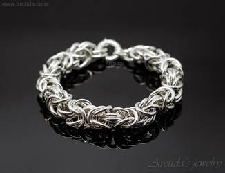 Byzantine chainmaille heavy mens bracelet