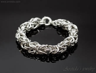 Byzantine chainmaille heavy mens bracelet