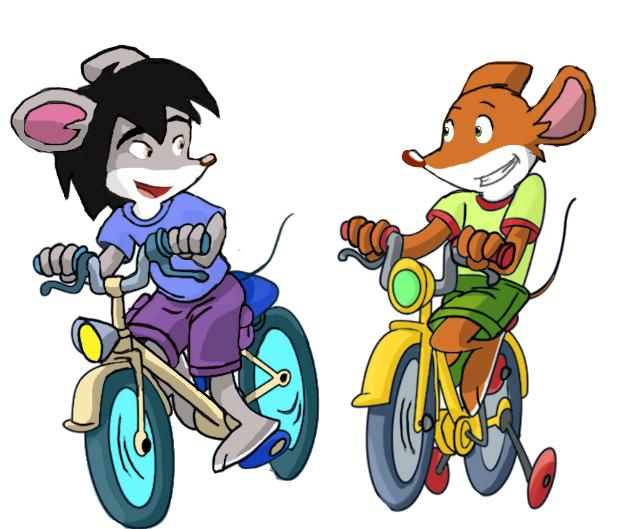 Hibiki and Geronimo na velosipedax by vasilia95
