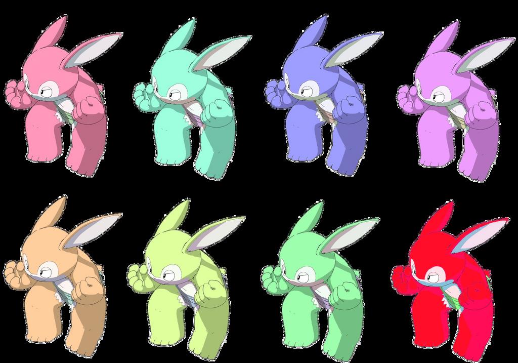 Rabbit sumo - rabbits color by vasilia95
