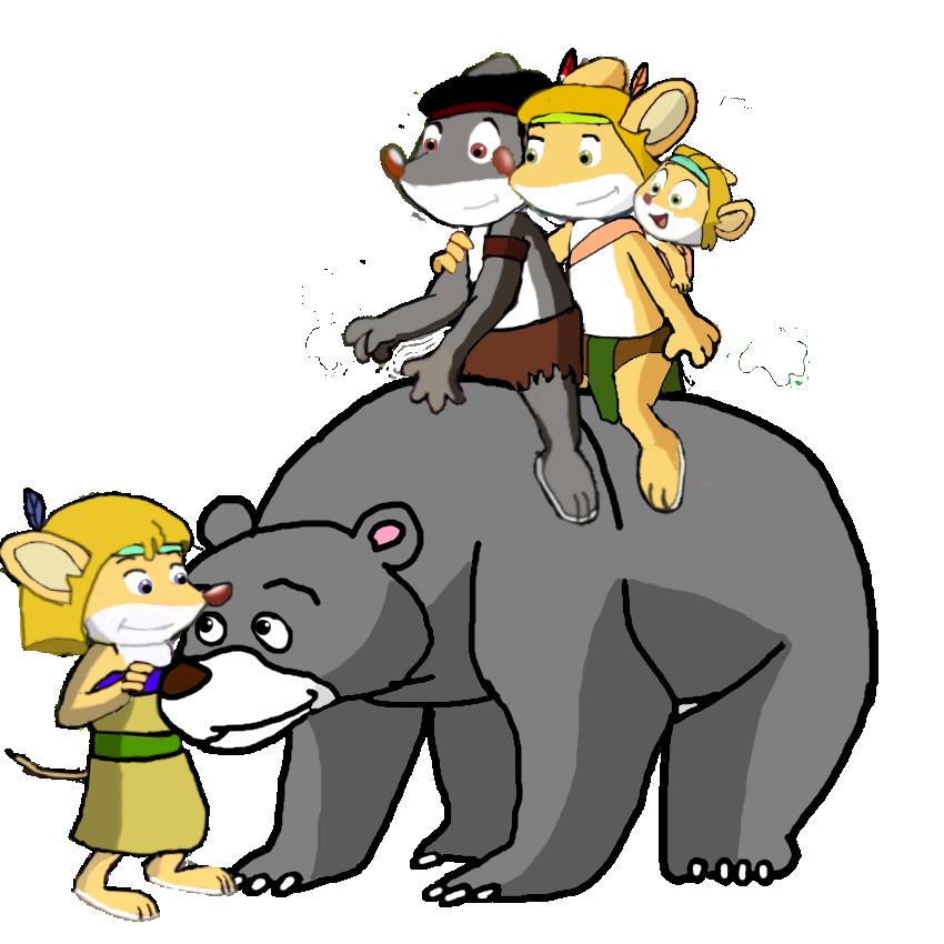 Stan, Meri Jane, Wally, Djoi and Bear by vasilia95