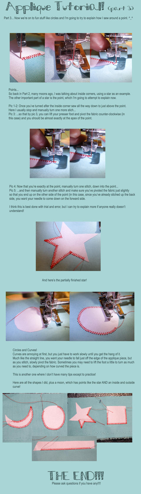 Machine Applique Tutorial Part 3 by shiroiyukiko