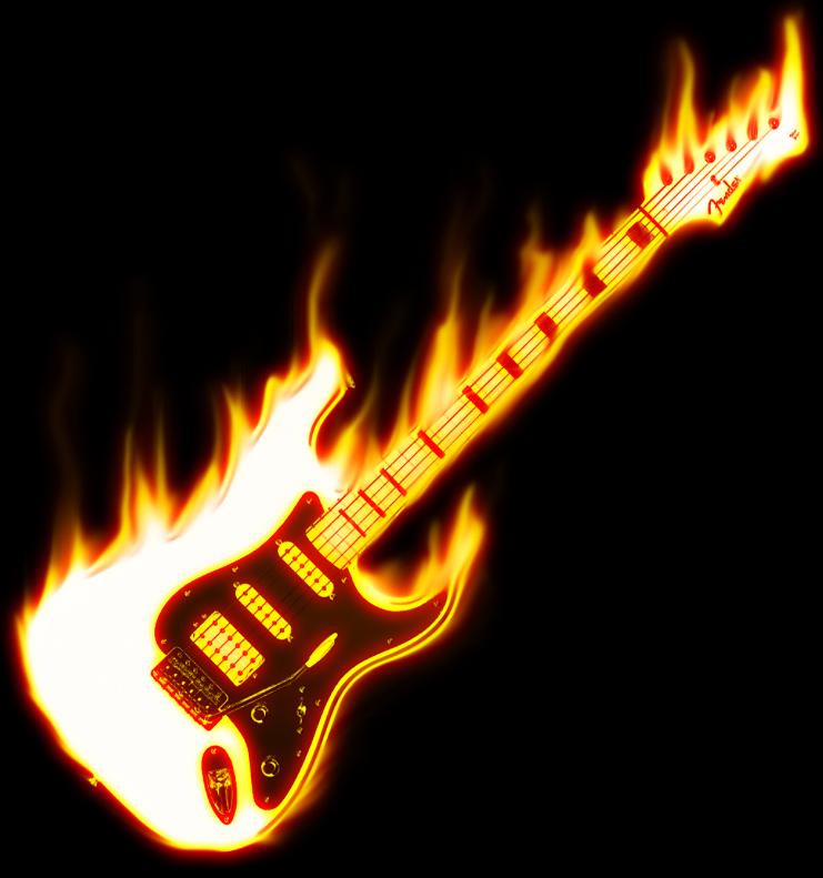 Guitar on Fire by wallaberto on DeviantArt