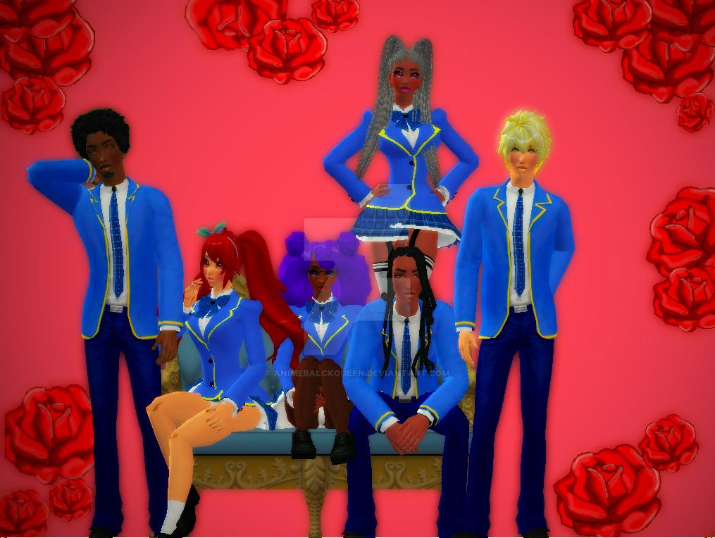 anime afro girls by animebalckqueen
