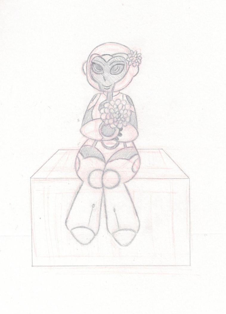 Flower Girl (sketch) by ToaTepsak