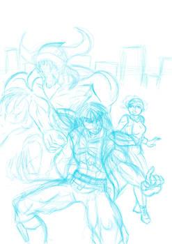 Samson: Mega City Warrior cover WIP