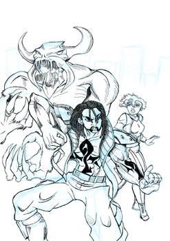 Samson: Mega City Warrior cover Complete Inks