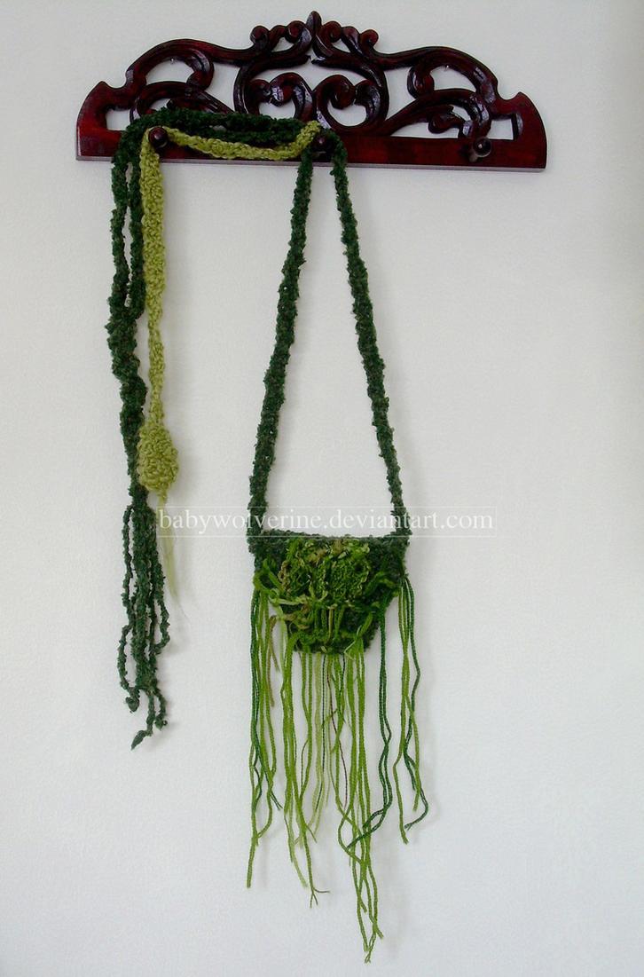 Mossy Moldavite Inspired Medicine Bag by BabyWolverine