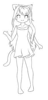 Lineart : Panda-Neko