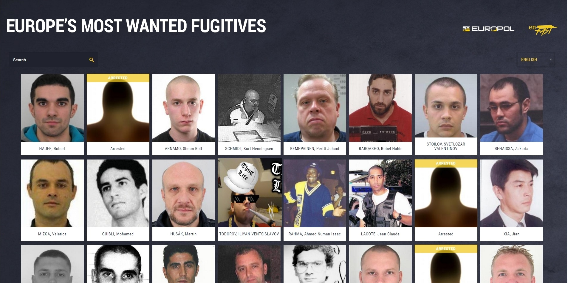 Europe's Most Wanted Fugitives by abcol2 on DeviantArt