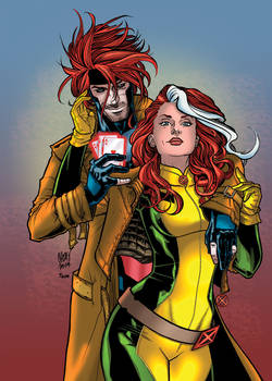 X-Men Gambit and Rogue by Chris Johnson