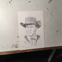 Gary Cooper High Noon Pencil Commission 6x9
