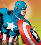 Captain America by Brent Schoonover