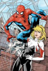 Spider-Man and Spider-Gwen by Art Thibert