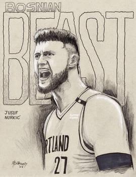 NBA Player Jusuf Nurkic, Portland Trail Blazers