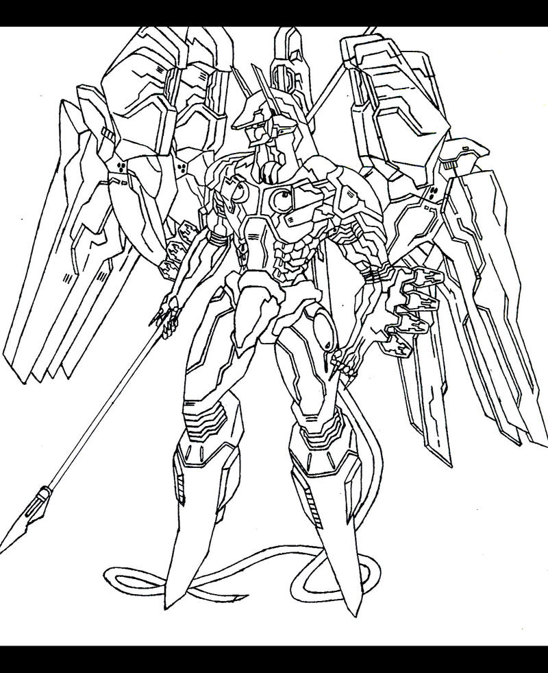 Scribble Drawing Zone : Anubis from zone of the enders by gabzx on deviantart