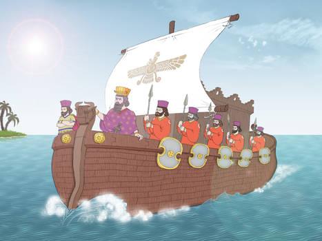 Persian ship in Persian gulf