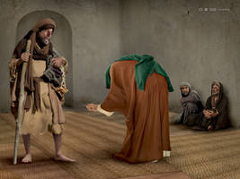 Imam Ali and Poor by miladps3
