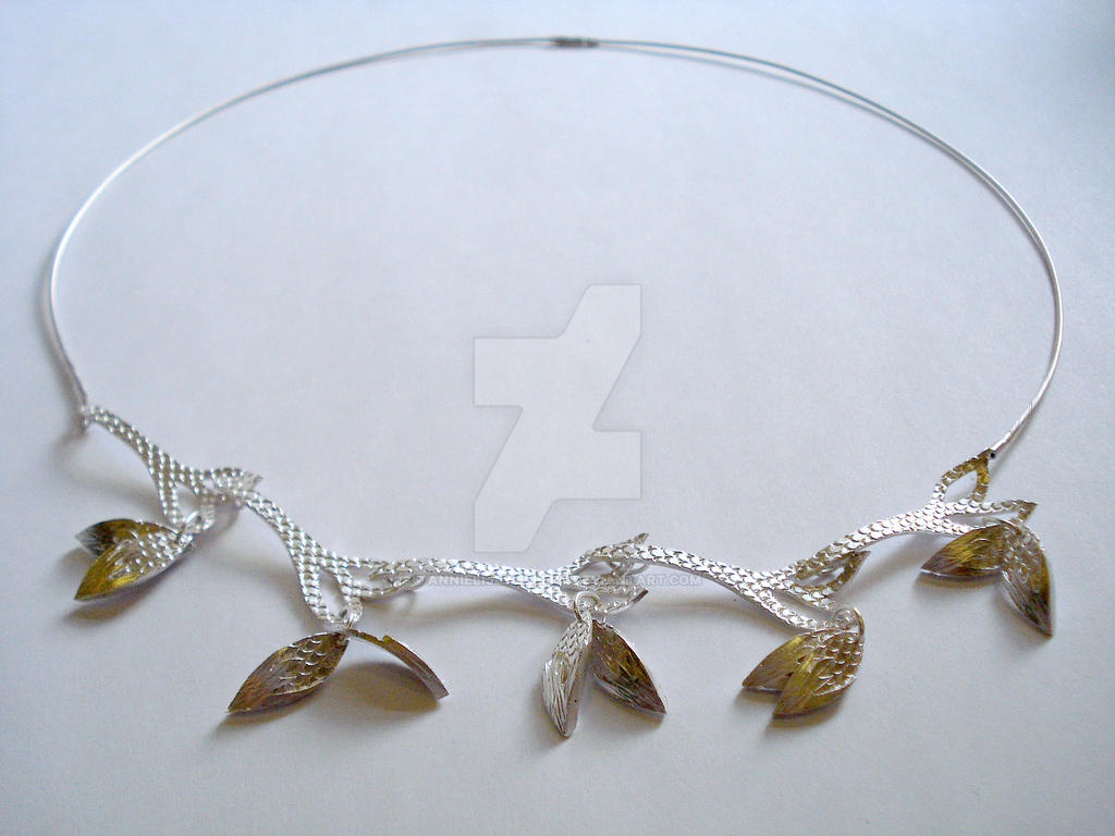 Silver Lamina Necklace by annielijewellery