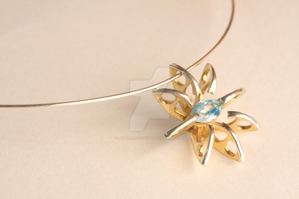 Silver Eichi Pendant by annielijewellery