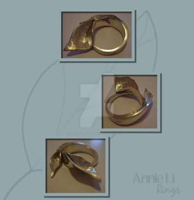 Leaf Rings by annielijewellery
