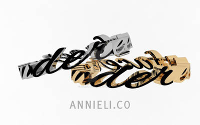 Calligraphy Rings in Platinum and Yellow Gold