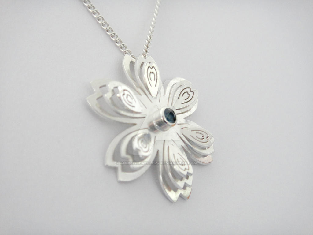 Wedding #1 Commission: Sakura Pendant by annielijewellery