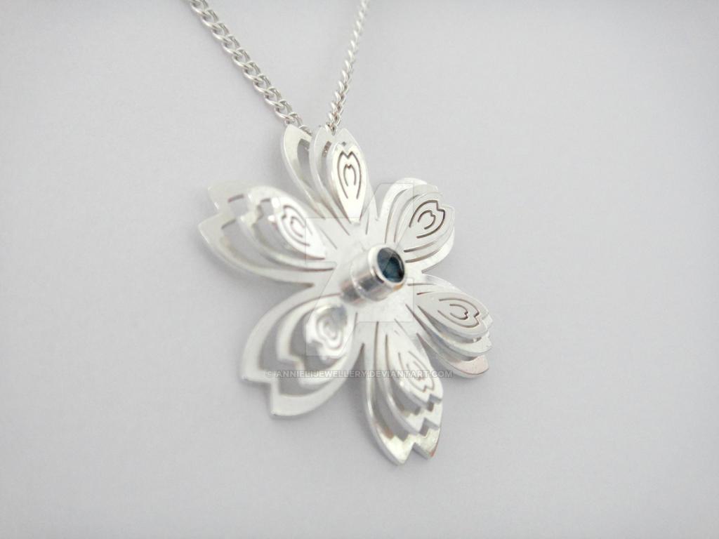 Wedding #1 Commission: Sakura Pendant by annielijewellery